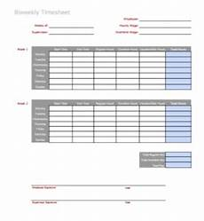 Two Week Timesheet 3 Timesheet Templates To Pay Employees With Ease