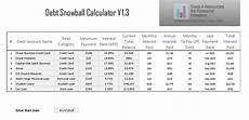 Debt Snowball Calculator Debt Snowball Calculator Excel Make Money Online