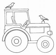 kostenlose malvorlage bauernhof traktor zum ausmalen