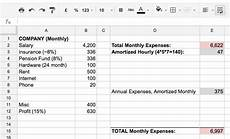 Calculating Expenses Getting To Your Minimum Hourly Rate 171 Optional Is Required