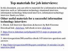 Interview Questions For Information Technology 80 Information Technology Interview Questions And Answers