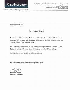 Social Service Certificate Format Service Certificate And Reference Letter Of Tirthankar Mitra