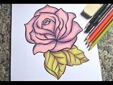como desenhar uma rosa passo a passo