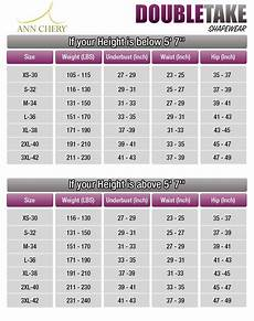 Shapewear Size Chart Chery Size Chart Waist Cincher Size Chart