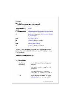 Wedding Planner Contract Wedding Planning Contract Template