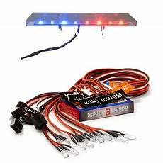 1 10 Police Light Bar 12 Led Rc Car Smart Led Light System Rc Toys 1 10