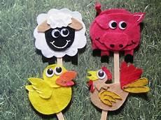 s craft corner farm animals on a stick animal