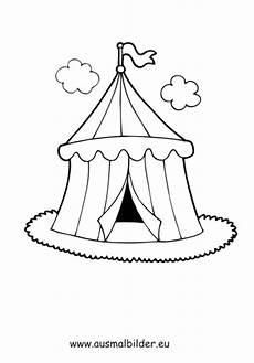 ausmalbilder zirkuszelt zirkus malvorlagen