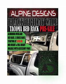 tacoma bed rack pre sale alpine designs offroad