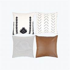 decorative throw pillow covers set of 4 mid century modern