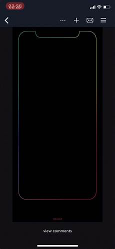iphone x black wallpaper with border the way this border wallpaper fades in is extremely