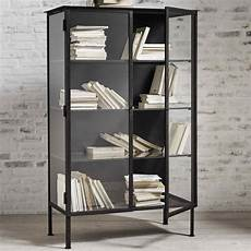 black iron glass cabinet design vintage