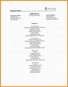 Reference Resume Example 12 13 Sample Reference Pages For Resume