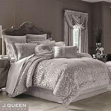 sicily silver gray medallion comforter bedding by j
