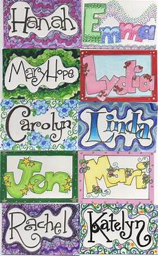 Cool Designs With Names Name Tags I Drew For Kids I Work With 3 Name Art