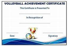 Volleyball Certificate Templates 19 Best Volleyball Certificates Free Printables Images In