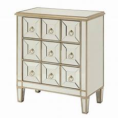 mirrored accent cabinet w gold trim by coaster furniture