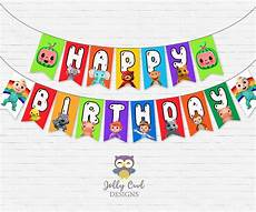 Printable Party Designs Cocomelon Happy Birthday Party Banner Digital Printable