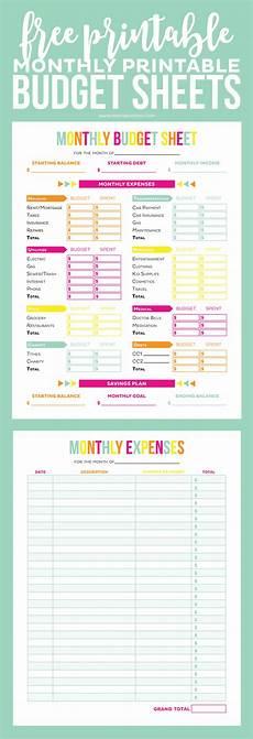 Printable Budget Sheet Free Printable Budget Sheets Printable Crush