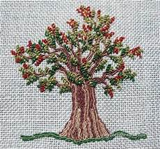 embroidering trees part 2 the leaves needlenthread