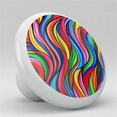 retro colorful abstract ceramic knobs pulls kitchen drawer