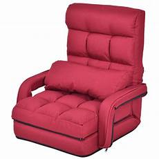 costway costway folding lazy sofa lounger bed floor chair