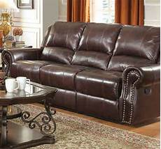 coaster 650161 brown leather reclining sofa a sofa