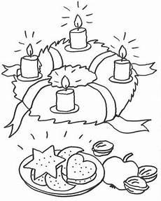 Malvorlagen Advent Advent Adventskranz Zum Ausmalen Kostenlose Malvorlagen
