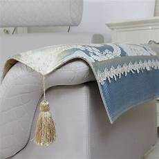 high quality europe style blue lace sofa arm rest with