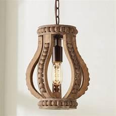 Modern Boho Pendant Lighting Boho Wood Beaded Pendant Shades Of Light