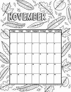 November 2020 Calendar For Kids November 2019 Coloring Calendar Free Calendar Calendar