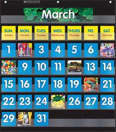 Scholastic Calendar Pocket Chart Scholastic Monthly Calendar Pocket Chart Black School