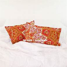 yellow multi 3d boho medallion bed pillow covers