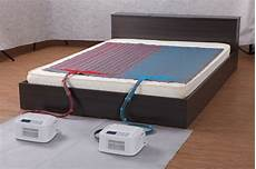 water cool and warm air conditioner mattress pad with led
