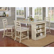 table height kitchen island furniture of america wilson 5 rustic counter height