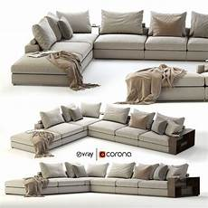 Ground Sofa 3d Image by 3d Model Flexform Groundpiece Sectional Sofa Cgtrader