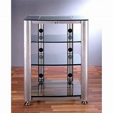 vti hgr404 4 shelf glass audio cabinet rack hgr404x