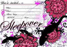 Sleepover Template Invitations For Sleepover Party