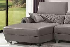 light grey italian leather modern sectional sofa