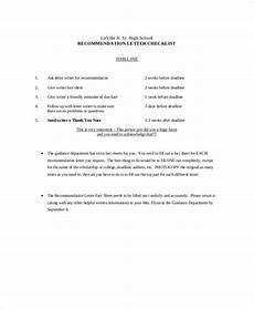 High School Student Recommendation Letter Free 9 Sample Recommendation Letter For High School