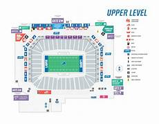 Ford Center Seating Chart With Rows Seating Maps Ford Field