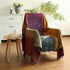 Summer Throws For Sofa 3d Image by Summer Retro Sofa Cover Boho Chenille Blanket