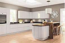 Grey Kitchens Lacarre Gloss Light Grey Kitchen