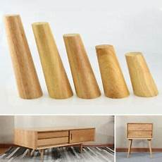 1x wooden angled tapered furniture legs for sofa