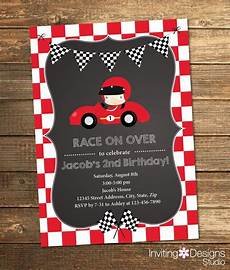 Second Birthday Party Invitations Race Car Birthday Invitation Boy Birthday Second Birthday
