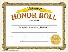 Honor Roll Certificate Templates Gold Colored Honor Roll Certificates Graduation Amp End