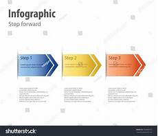 Forward Design Infographic Step Forward Design Stock Vector 550488433