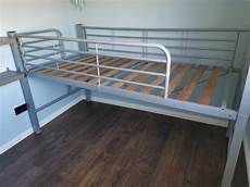 modern aspace solid beech raised single bed frame 3095 mid
