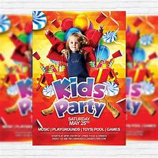 Kids Flyers Kids Party Premium Flyer Template Facebook Cover