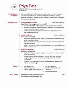 Wordpress Developer Resume Resume Format Site Wordpress Developer Resume Templates Cv
